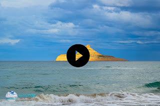 رفراف الشاطئ:فيديو حصري عن  ظاهرة حجرة البيلاو التي اصبح لونها ذهبي