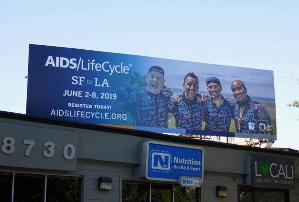 AIDS LifeCycle 2019 billboard