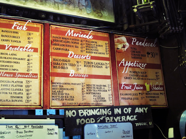 pan de amerikana menu