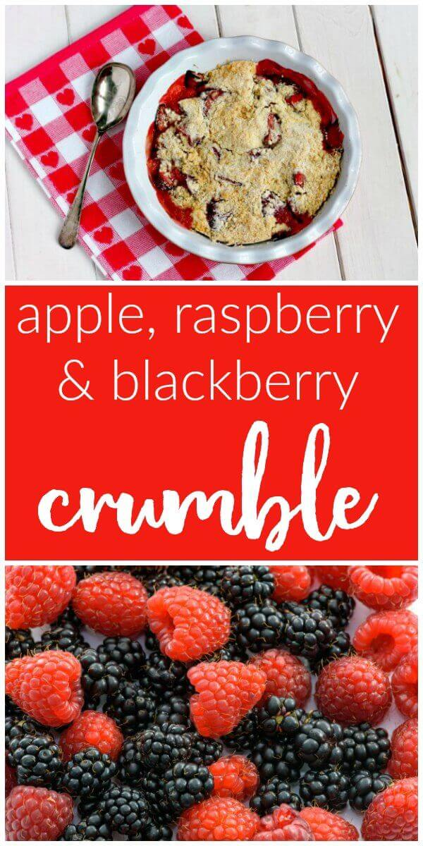 Apple, Raspberry and Blackberry Crumble