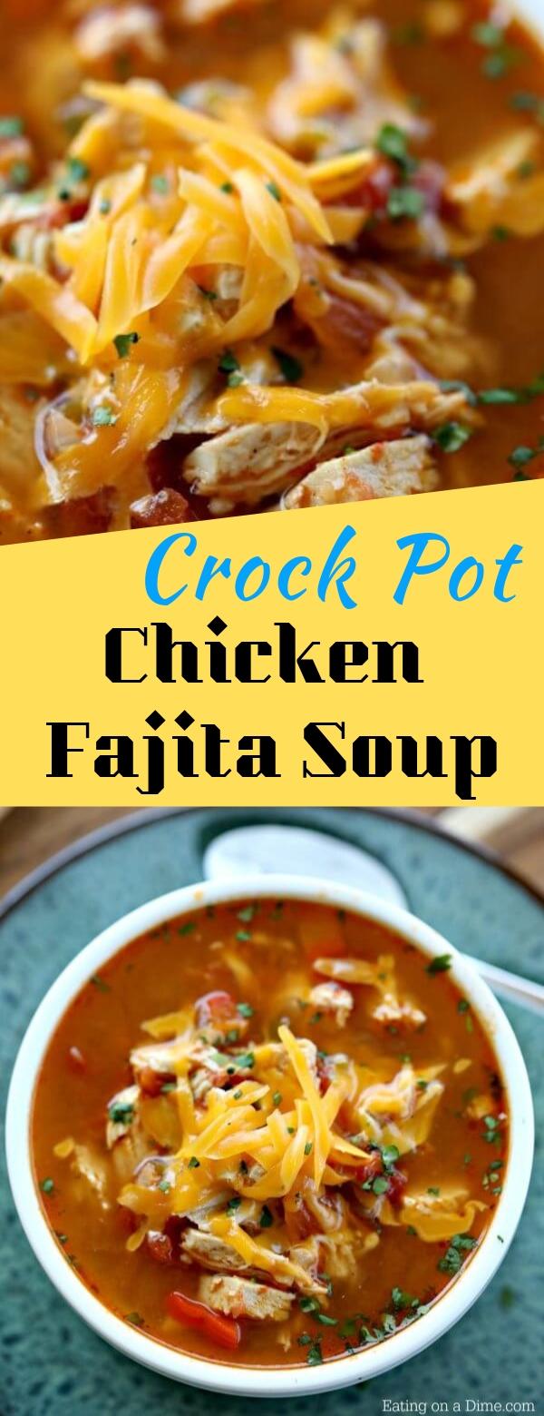 Crock Pot Chicken Fajita Soup #crockpot #chicken #fajita #soup #keto #healthy #healthyfood