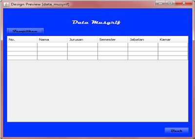 Kelas Informatika - Interface Preview Data Musyrif