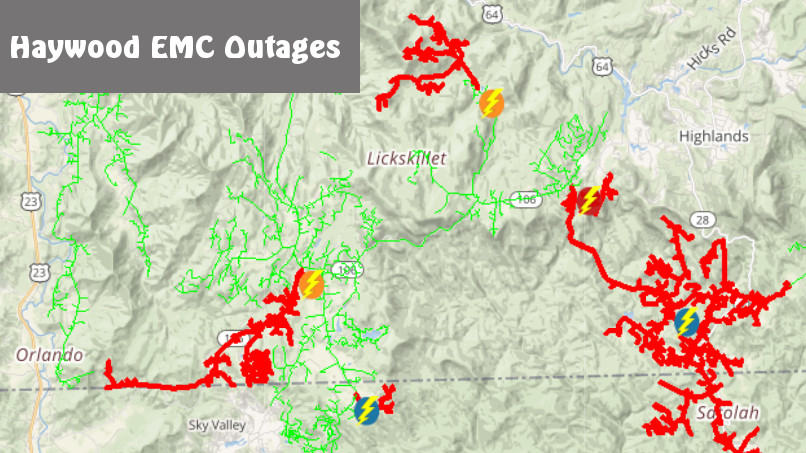 Winds Drive Overnight Power Outages to Over a Thousand