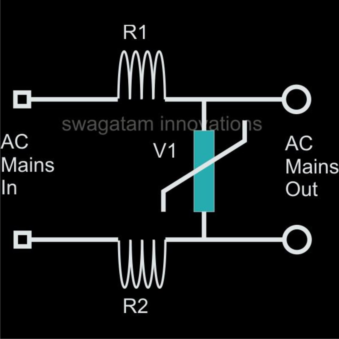 ac mains surge protector circuit electronic circuit projects ac mains surge protector circuit