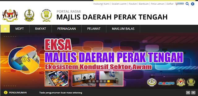 Rasmi - Jawatan Kosong (MDPT) Perak Majlis Daerah Perak Tengah 2019