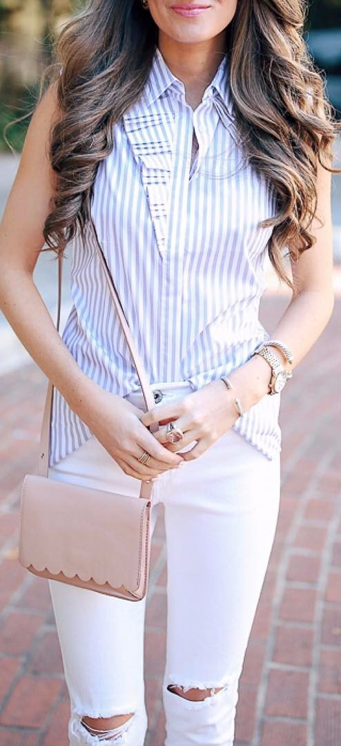 spring street style: nude tones style