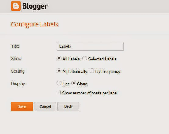 How To Add A Label Widget In Blogger