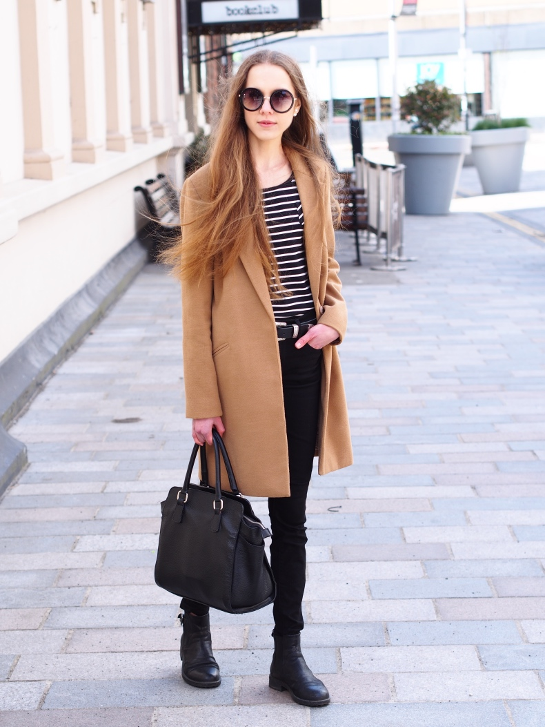 All Black with Camel Coat