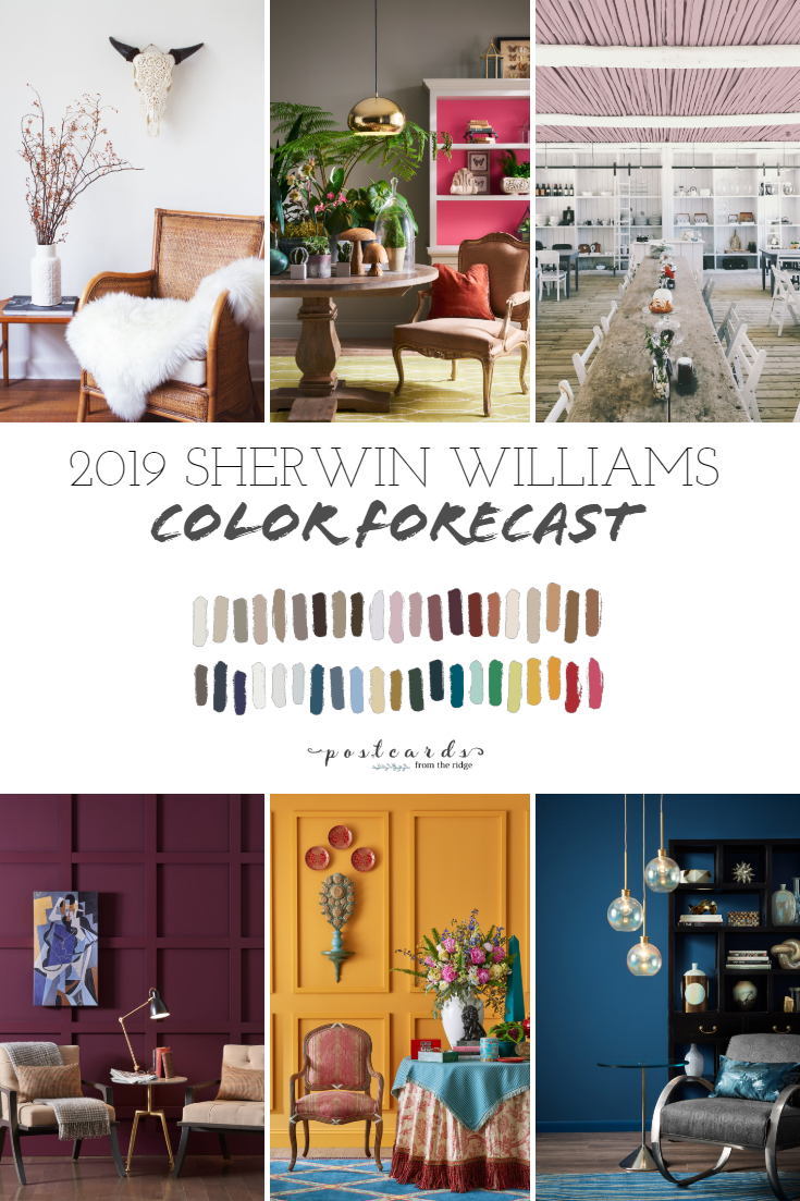 2019 Paint Color Forecast from Sherwin Williams | Postcards ...