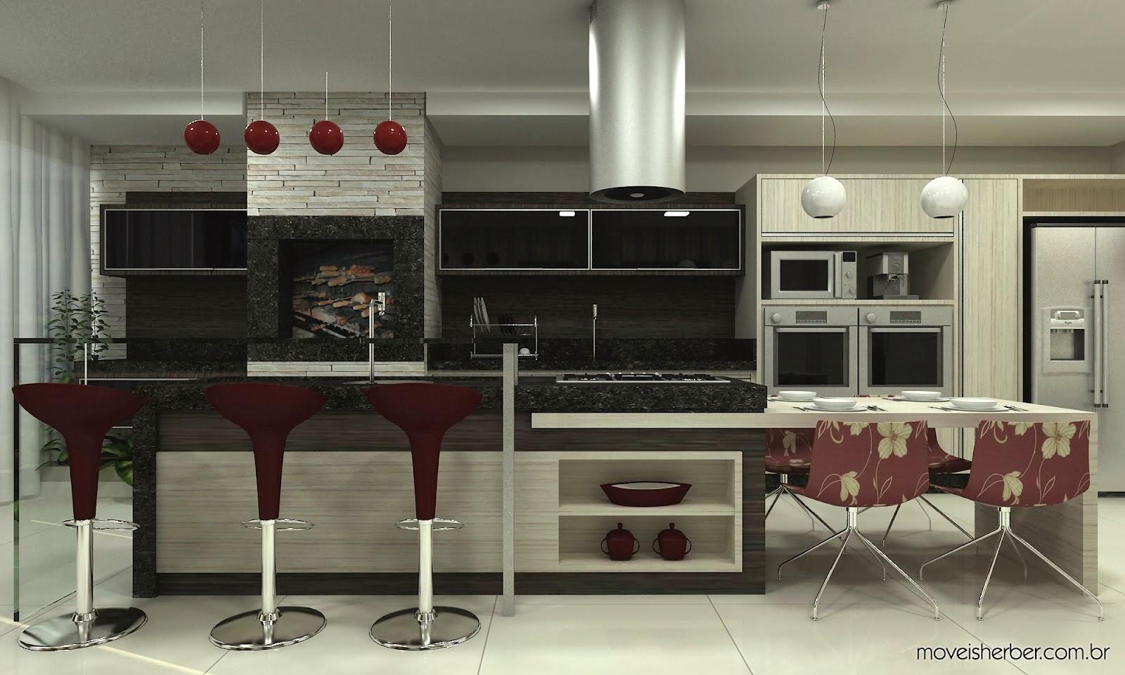Personare Ambientes Planejados Cozinha Moderna Madeirada Com