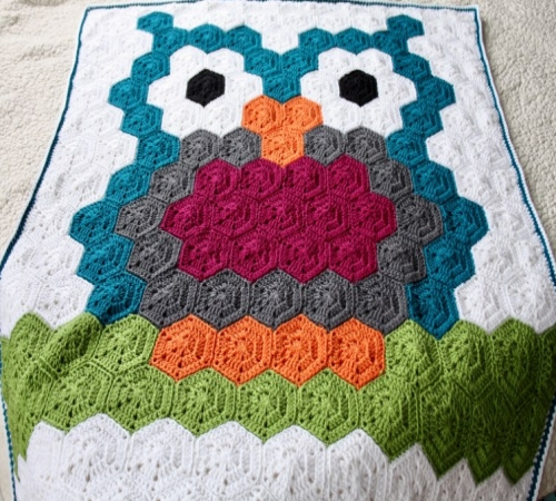 Night Owl Crochet Hexagon Blanket - Free Pattern
