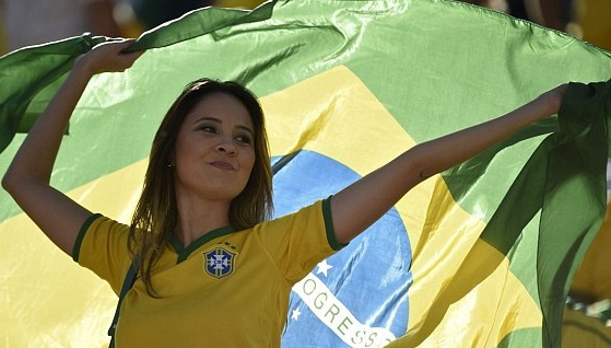 Female Supporter in World Cup Ceremony 2014
