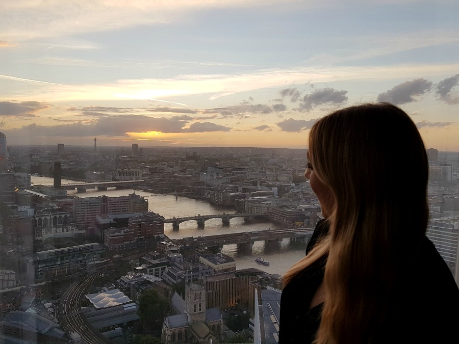 Catherine of Lux Life Look at the Sunset over London from Shangri-La At The Shard