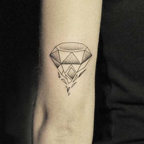 geometrik elmas dövmeleri geometric diamond tattoos