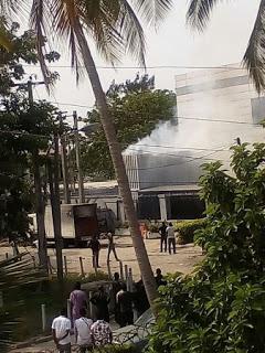 [PHOTOS] Fire Outrage Popular Lagos Base Club, Quilox.