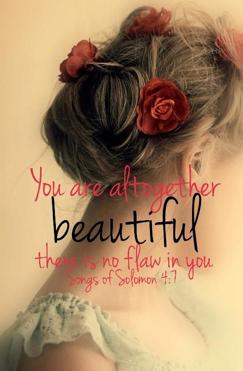you are altogether beautiful there is no flaw in you