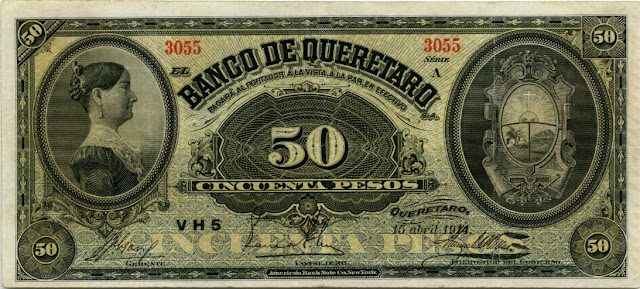 50 Mexican Pesos banknote currency