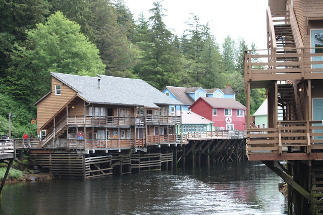 In Ketchikan Alaska, Creek Street structures are on stilts.