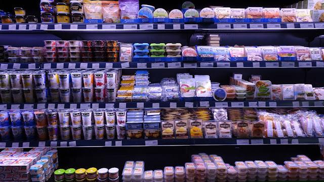 A range of vegan alternatives at organic market