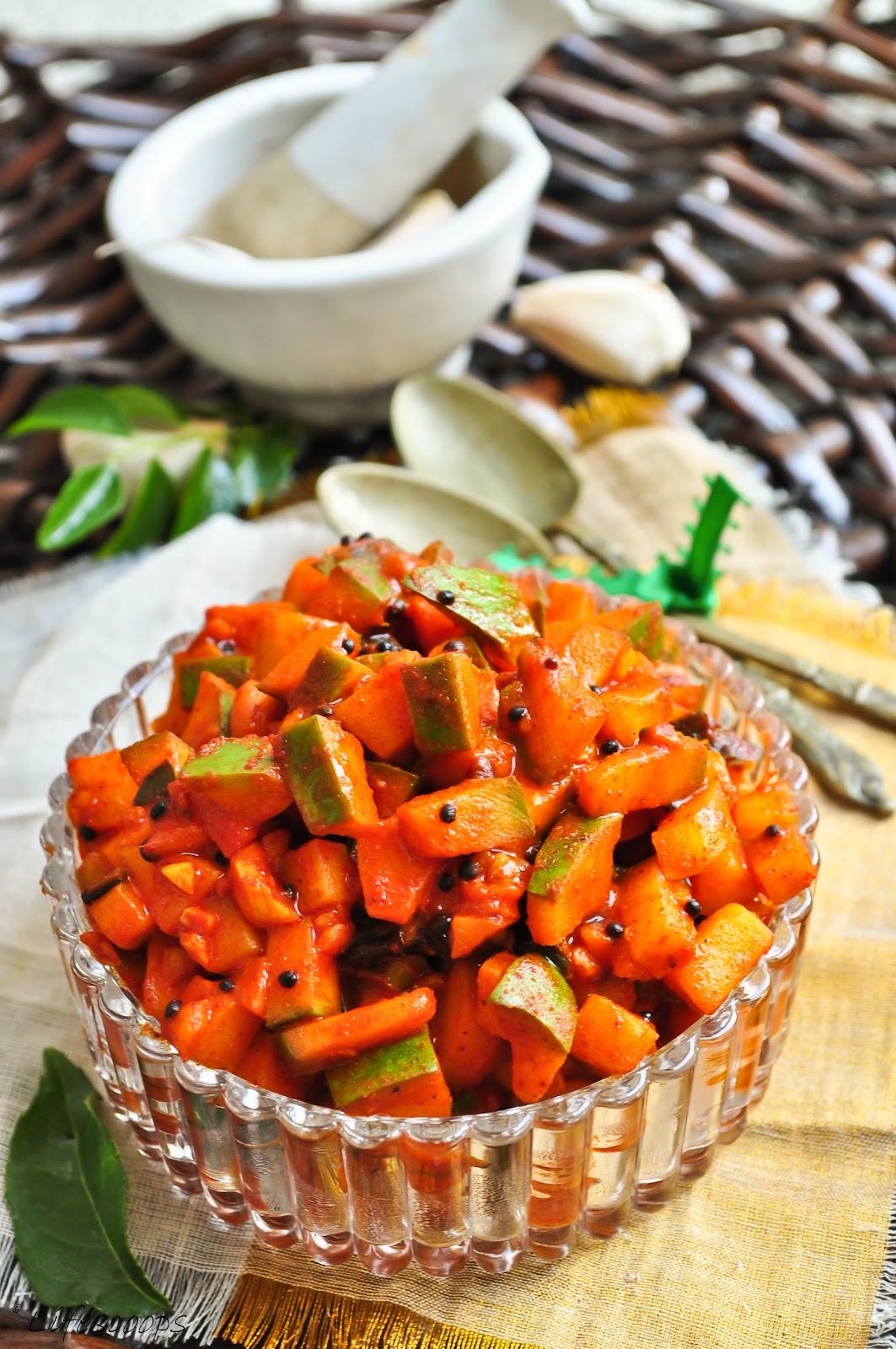Life Scoops Kadumanga Achar Spicy Kerala Mango Pickle