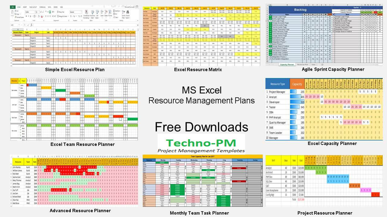 Resource Management Using Excel Template Downloads Free - Advanced excel dashboard templates