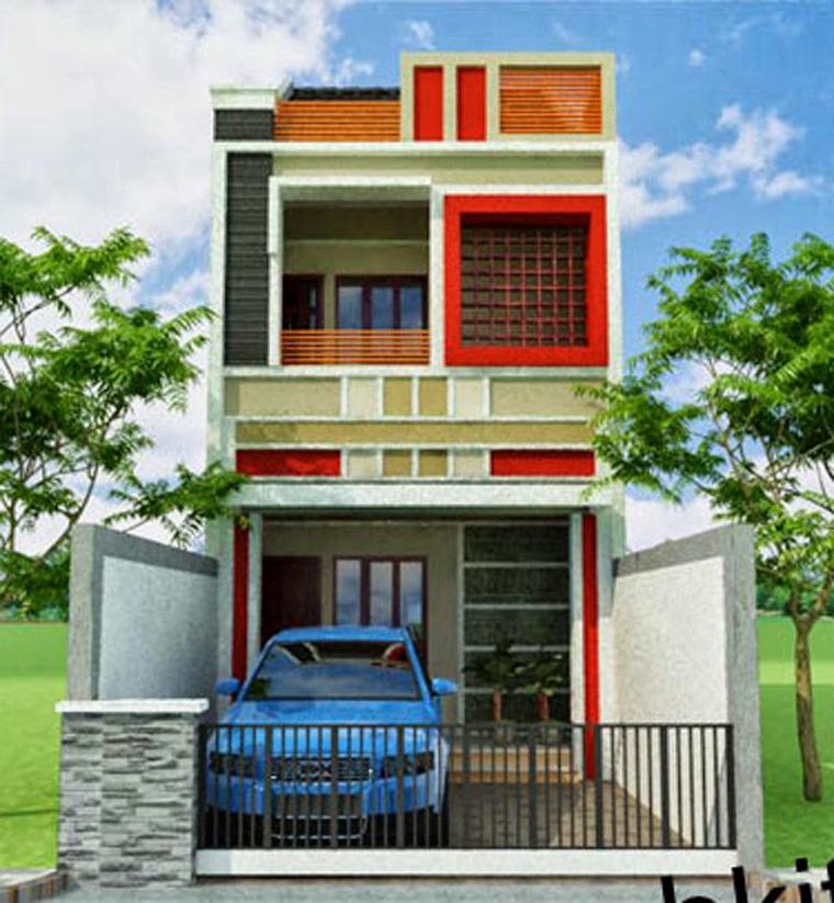Reka bentuk contoh rumah 2 tingkat minimalis type 36 ...