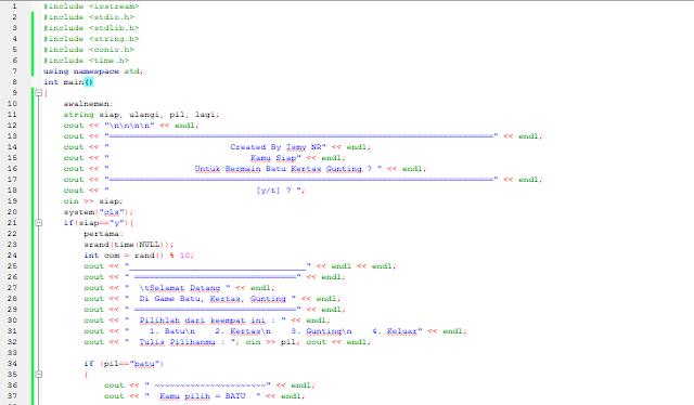 """Game Sederhana """"Batu, Kertas, Gunting"""" dengan Bahasa Pemrgraman C++ [CODE::BLOKS]"""