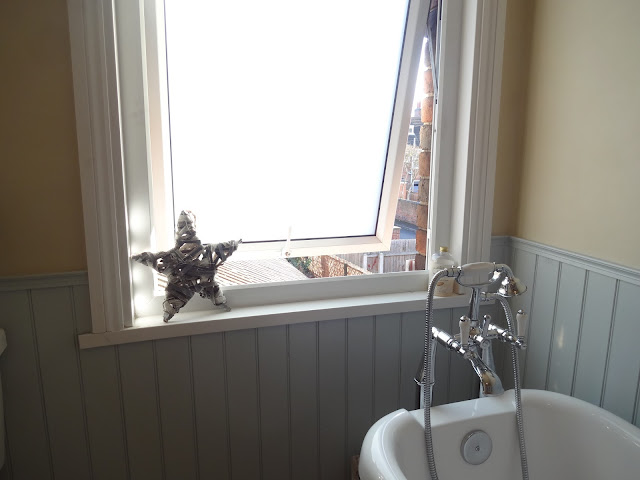 frosted window film in the bathroom