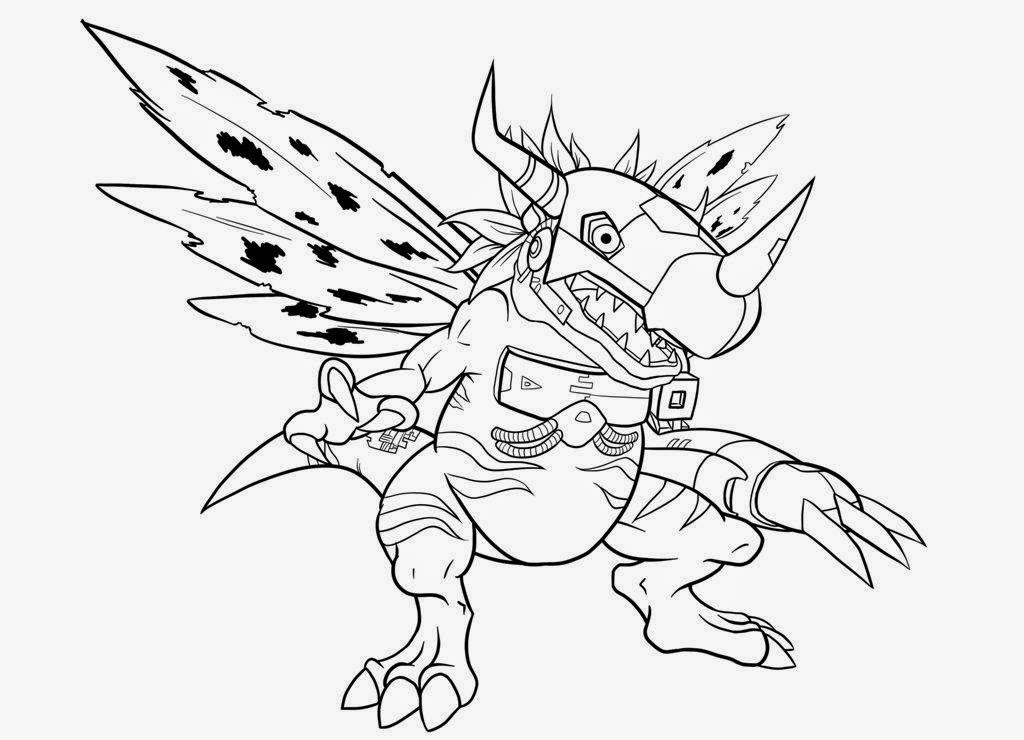 Desenhos para colorir e imprimir desenhos digimon para for Digimon coloring pages