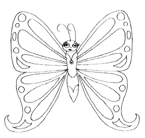 butterfly image coloring pages | Monarch Butterfly Coloring Pages For Kids >> Disney ...