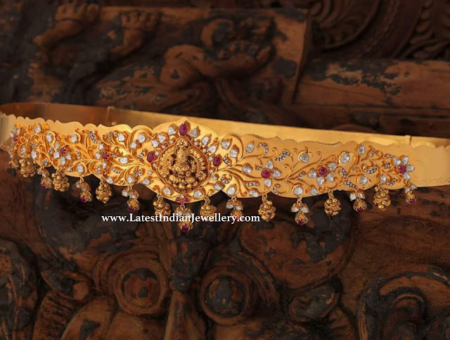 Polki Studded Simple Vaddanam