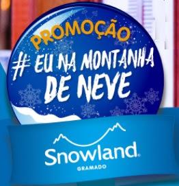 Promoção Parque Snowland 2017 Eu Na Montanha de Neve Viagem Argentina