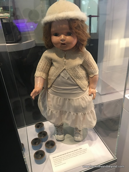 phonograph doll from 1940s at Computer History Museum in Mountain View, California