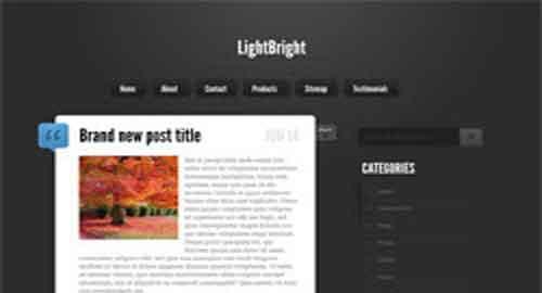 LightBright Blogger Template