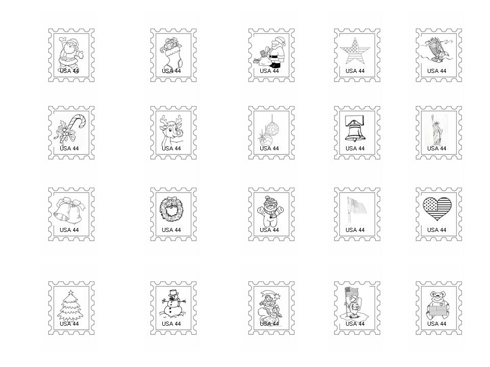 printable stamp coloring pages-#35