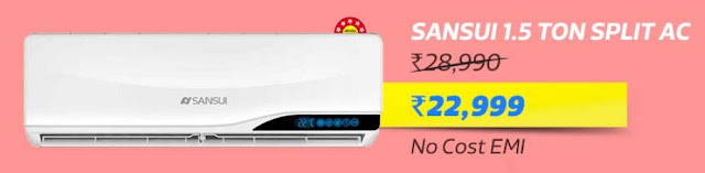 Sansui 1.5 Ton 5 Star Split AC @ Rs.22,999/-