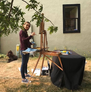 sarah sedwick painting plein air still life