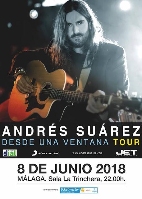 Concierto de Andrés Suárez en Málaga