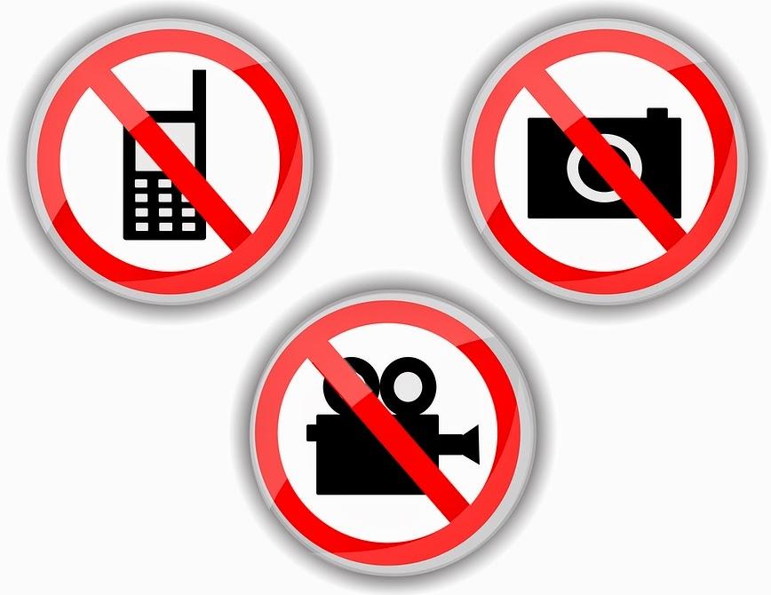 Etikett Fotografieren verboten