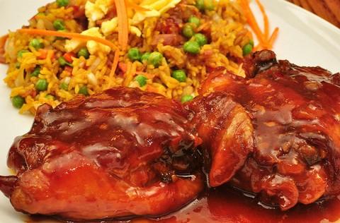Honey Braised Chicken with Veg Fried Rice