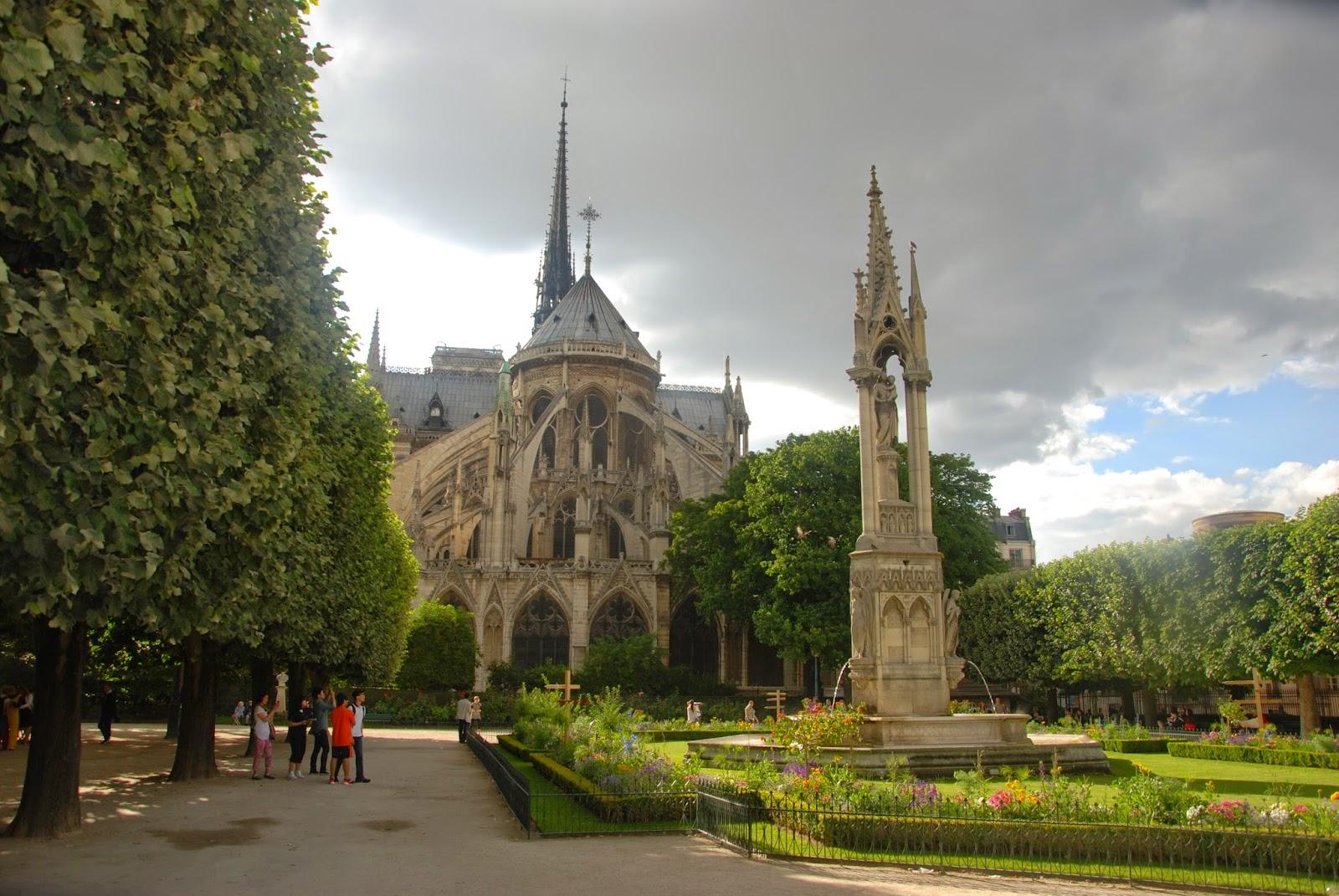 Ábside de la Catedral de Notre Dame, París