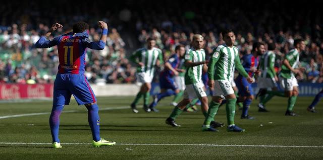 نتيجة مباراة برشلونة وريال بيتيس اليوم الأحد 21-1-2018 الدوري الإسباني