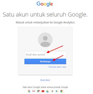Login Google Analytics