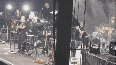 Leon Gieco canto La memoria en el show de Roger Waters.