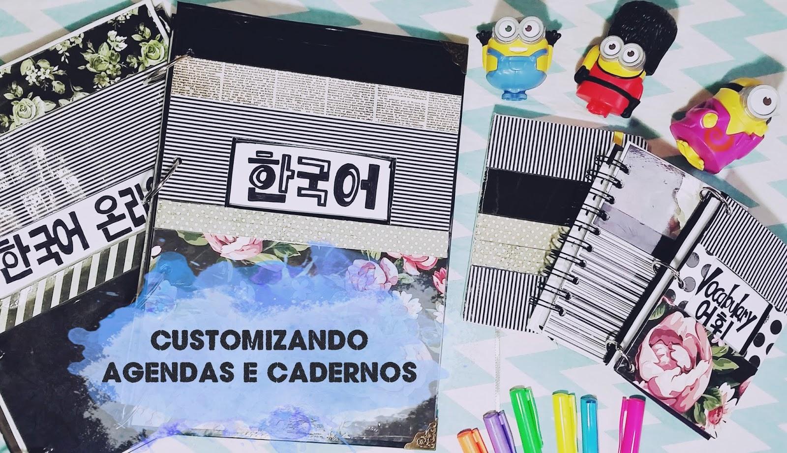 3ab6aedc4f Diy  Customizando caderno argolado