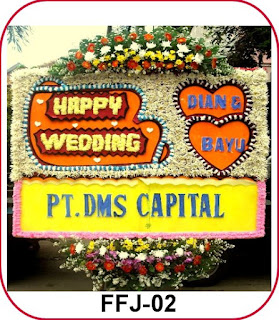 Bunga Papan Happy Wedding Di Cibubur