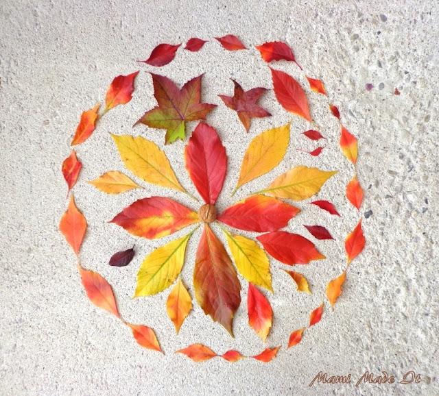 Leaves Mandala - Blätter Mandala