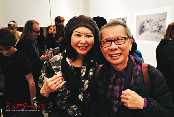 Vivienne Shui and William Yang at Barometer Gallery. Photographed for Street Fashion Sydney by Kent Johnson.