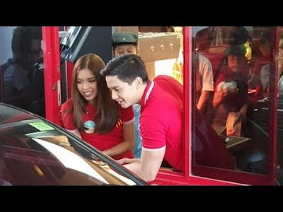 AlDub ready to serve your take out orders!
