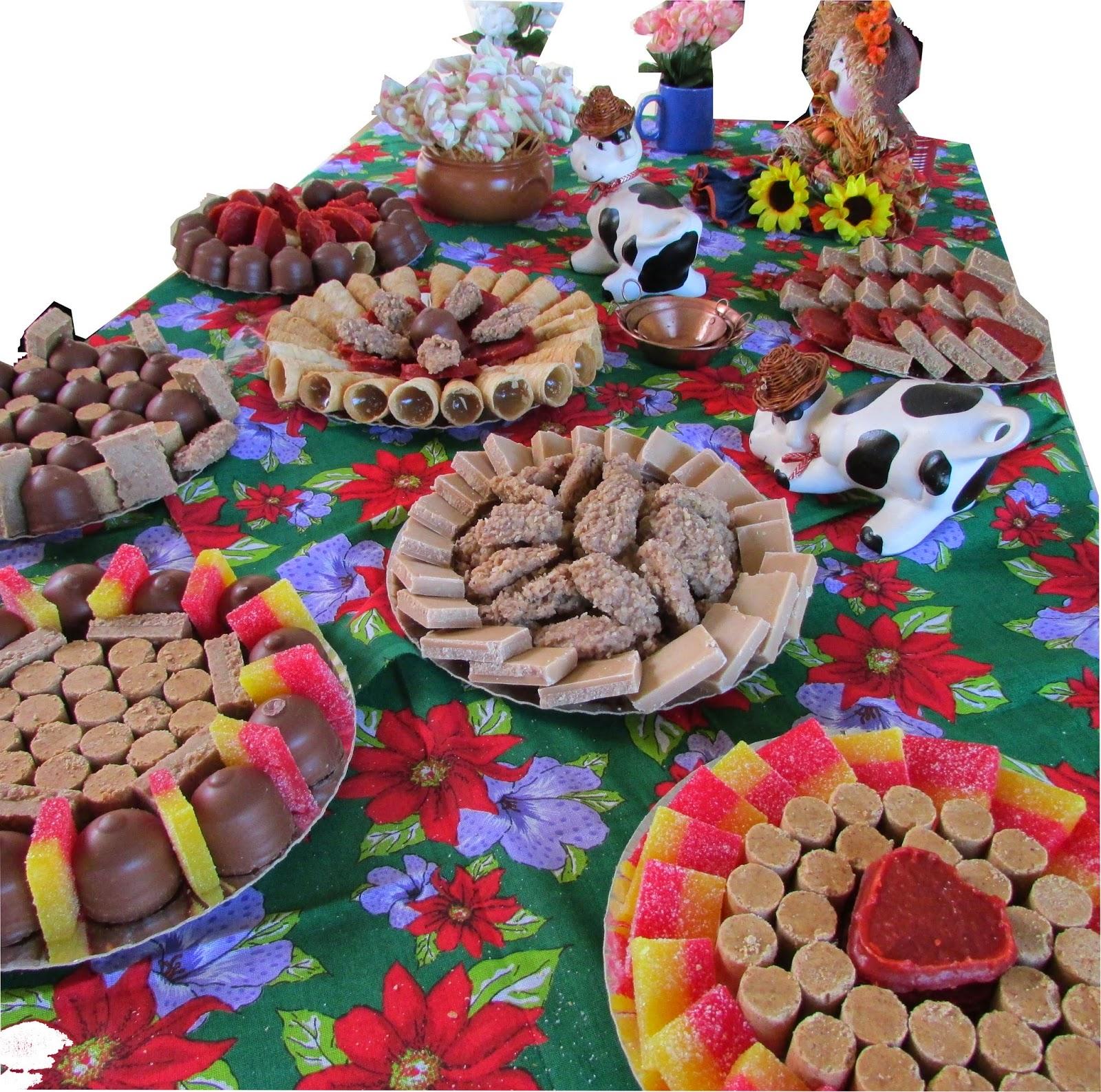 sugestão de doces para festa junina